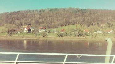 Train ride to Prague